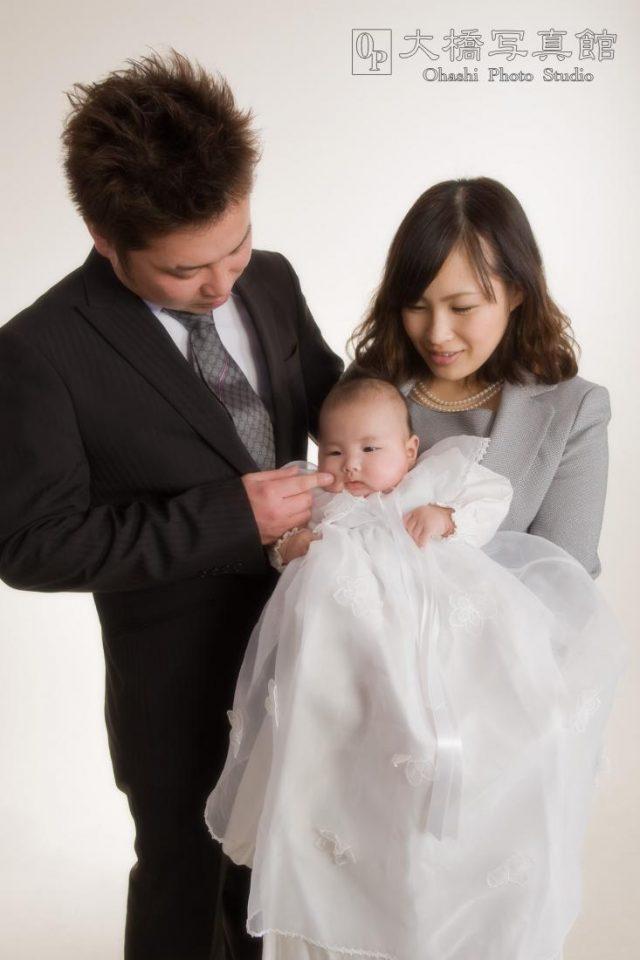 成人式、家族写真